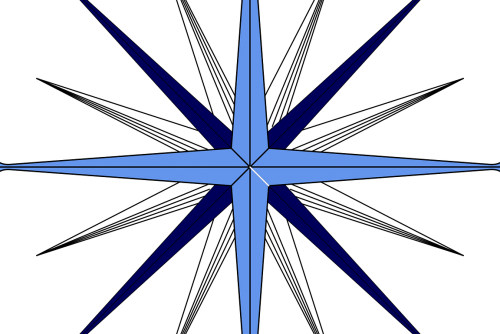image of a compass rose