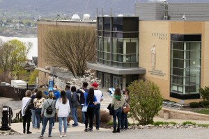 Group of visitors tour the MSMC campus