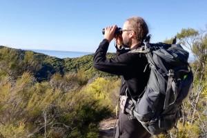 Douglas Robinson on pest-free Adele Island