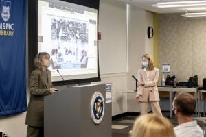 Tracey Niemotko and Moira Tolan, professors of Business at Mount Saint Mary College, presenting their iROC talk.