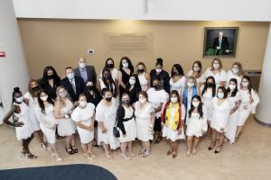 A group photo of the graduating nurses.