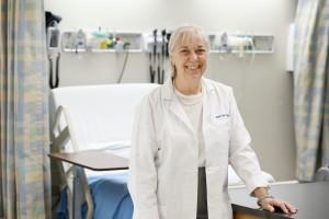 Susan LaRocco in white coat