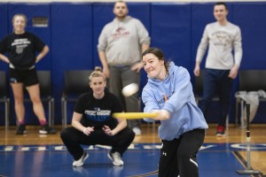 The Mount Saint Mary College community enjoyed a game of wiffle ball.