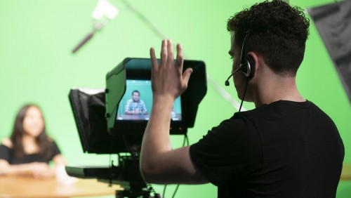 Digital Media Production – students in the studio