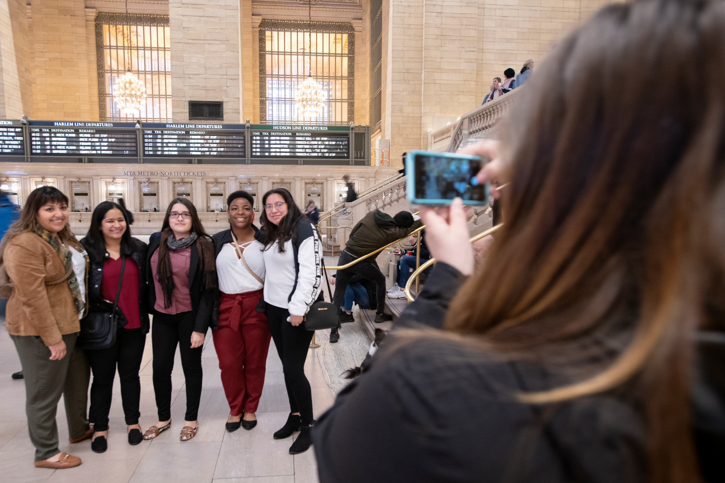 Students in Grand Central