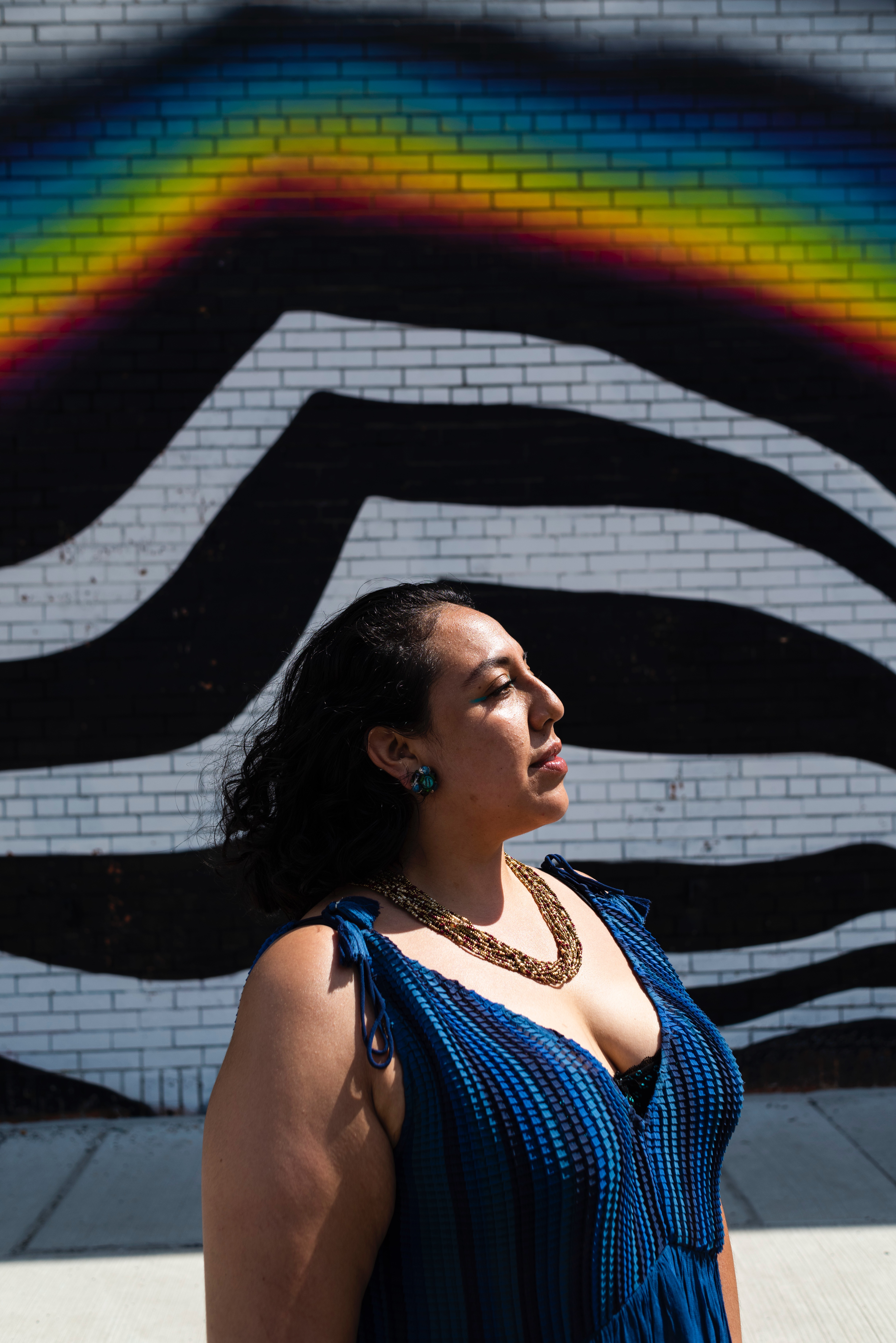 Stephanie Alvarado looking toward the horizon.