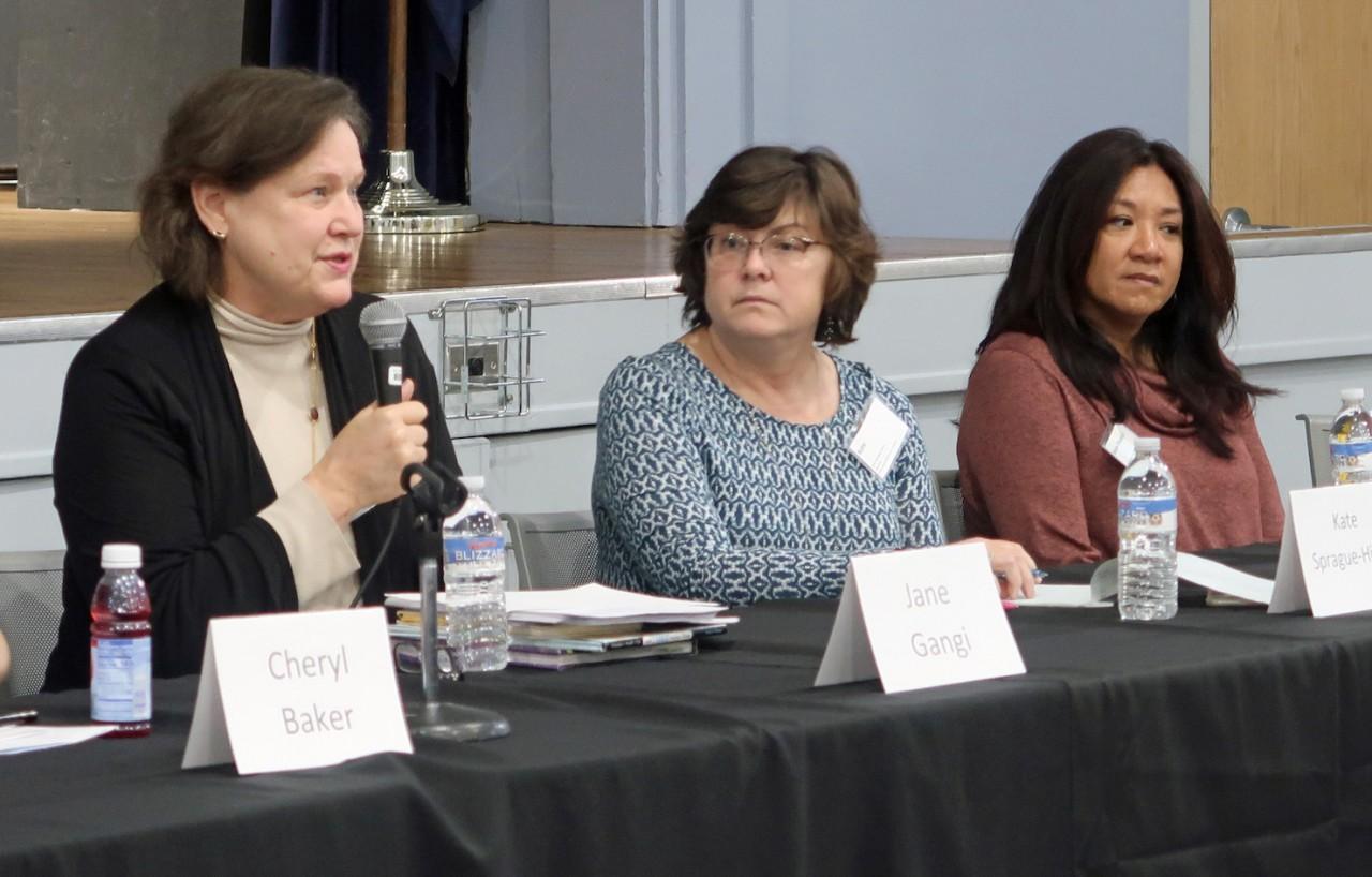 Jane Gangi, Kate Sprague-Hicks, and Marie-Therese Sulit