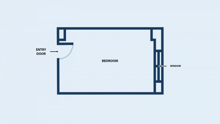 Floor plan of double room