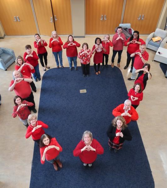Mount community wears red to beat heart disease