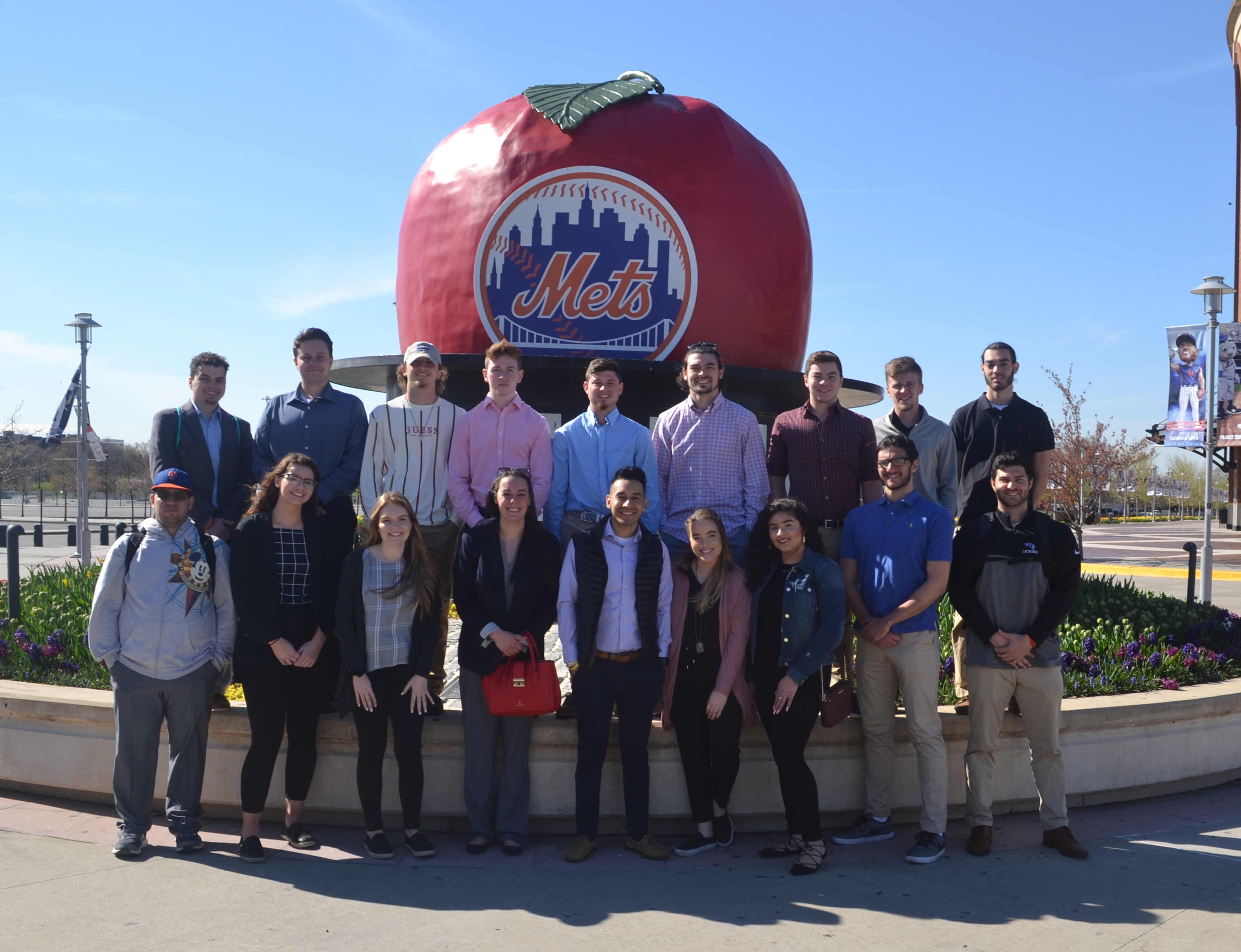Students at Citi Field