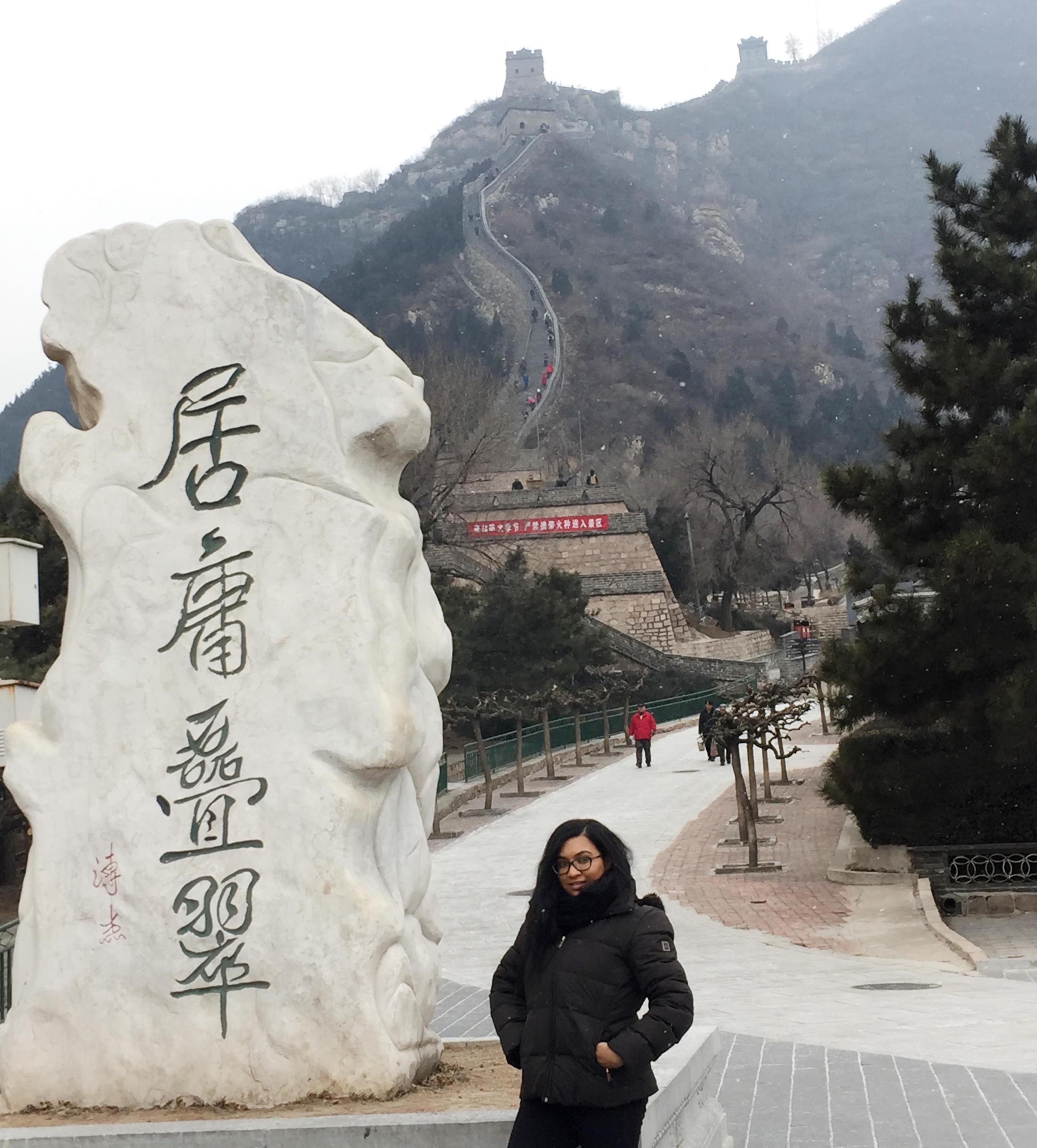 Student by Great Wall of China