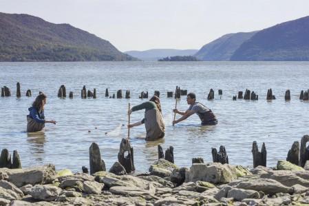 Students in Hudson River